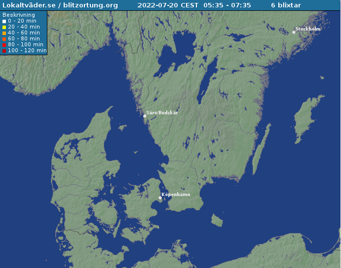 Blixtkarta från lokaltväder.se