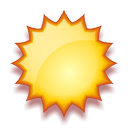 Nuvarande väder: (09:55) Soligt, Uppehåll