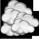 Nuvarande väder: (12:40) Molnligt, Uppehåll