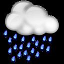 Nuvarande väder: (12:50) Molnligt, Lätt regn