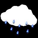Nuvarande väder: (12:35) Molnligt, Lätt regn