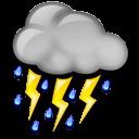 Nuvarande väder: (10:10) Molnligt, Lätt regn