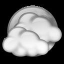 Nuvarande väder: (18:50) Kväll, Uppehåll, Spridda moln