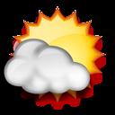 Nuvarande väder: (08:45) Mest molnligt, Dimma