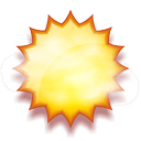 Nuvarande väder: (11:45) Soligt, Uppehåll